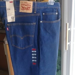 Levi Strauss Mens Jeans Relaxed Fit 550 Size 42x30